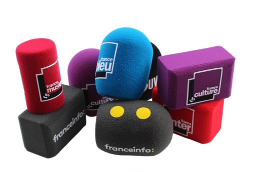 Bonnettes micro personnalisées Radio France